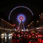 Vue de la Grande Roue des Champs Elysées, illumination.