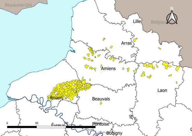 Carte des communes soumises à un arrêté de limitation de production agricole